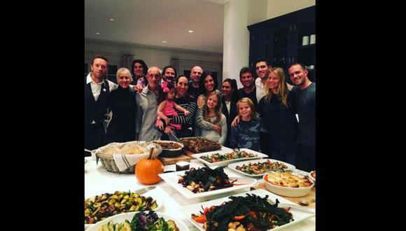 Gwyneth Paltrow y Chris Martin pasaron juntos Acción de Gracias