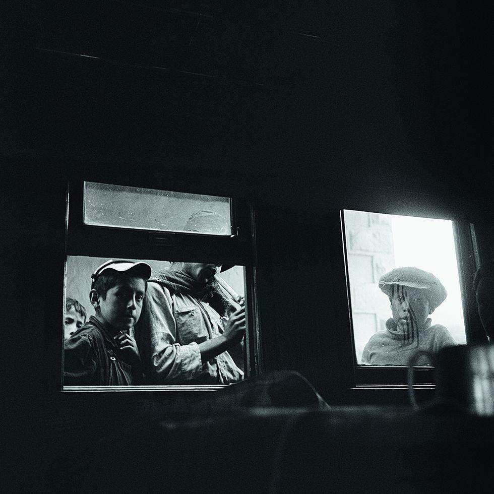 En el tren al Cusco, 1949.