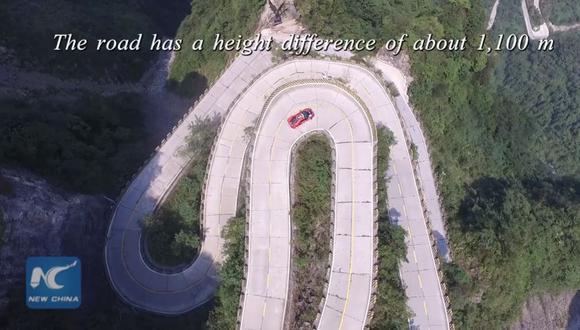 Récord de Ferrari en impresionante carretera de montaña [VIDEO]