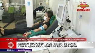 Coronavirus en Perú: preparan tratamiento con plasma para pacientes COVID-19