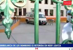 Comandante de los Bomberos pide devolución de ambulancia de su institución retenida en Hospital Loayza