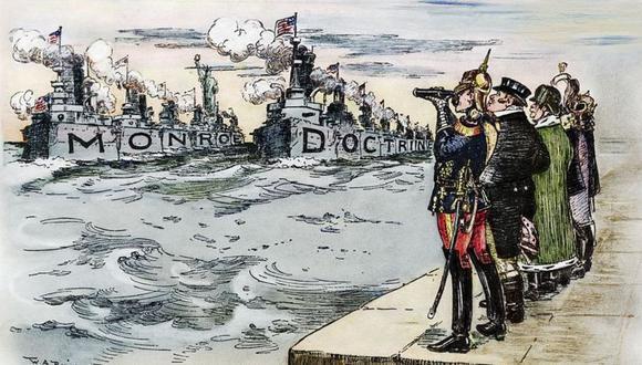 """""""América para los americanos"""": la Doctrina Monroe creada en rechazo al imperialismo europeo en el continente americano hizo que EE.UU. se pusiera del lado de Venezuela. (Getty Images)."""