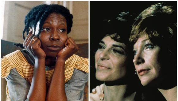 "Whoopi Goldberg en ""The Color Purple"" (izquierda) y Anne Bancroft y Shirley MacLaine en ""The Turning Point"". (Foto: Warner Bros. Pictures/20th Century Fox)"