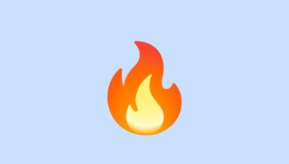 Conoce realmente qué es el emoji del fuego en WhatsApp y cuándo usarlo. (Foto: Emojipedia)
