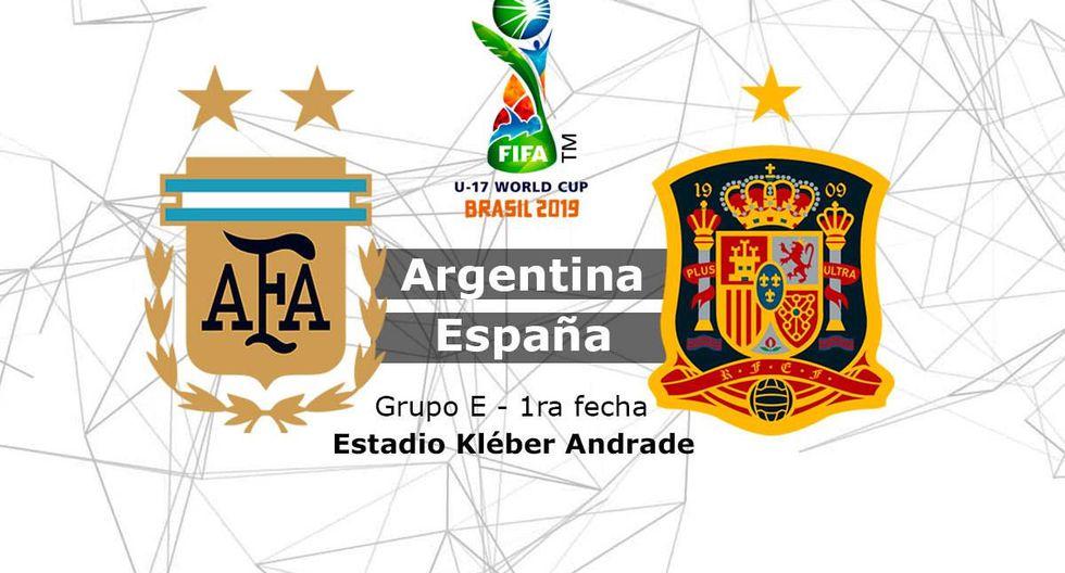 Seguir Argentina vs. España en vivo online: vibrante partido por el Mundial Sub 17 Brasil 2019. (Composición)