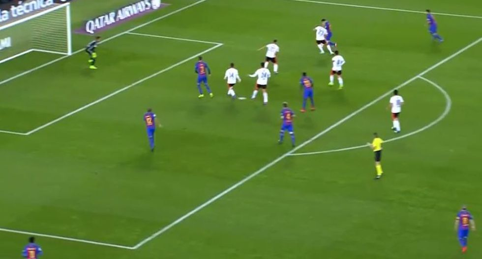 CUADROxCUADRO del gol de derecha de Lionel Messi ante Valencia - 20
