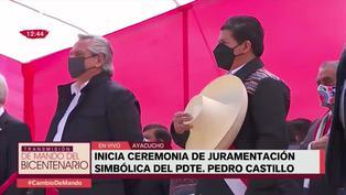 Himno nacional fue entonado en quechua desde la Pampa de la Quina en Ayacucho