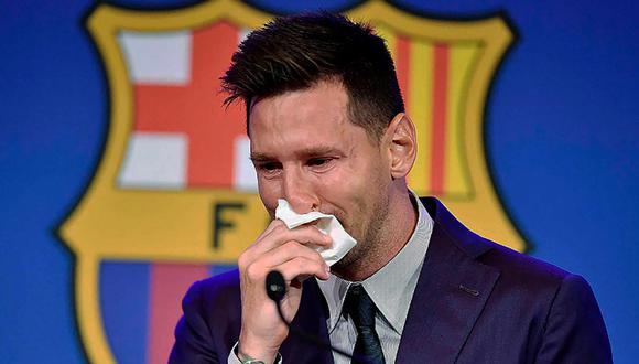 Lionel Messi se fue del Barcelona entre lágrimas | Foto: Difusión.