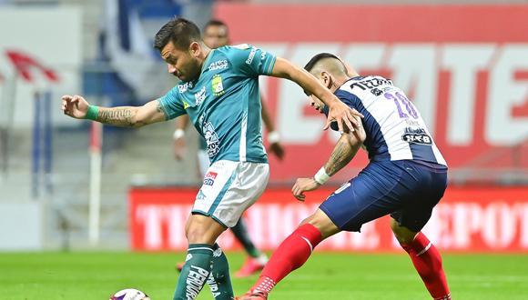 Los felinos se adelantaron en el marcador con anotación de Víctor Dávila, mientras que la igualdad de 'Rayados' llegó en los pies de Rogelio Funes Mori. (Foto: Twitter Club León)