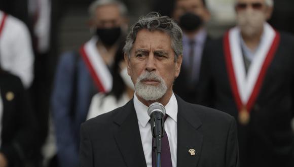 Francisco Sagasti se reunirá esta mañana con los representantes de los poderes del Estado. (Foto: Renzo Salazar)