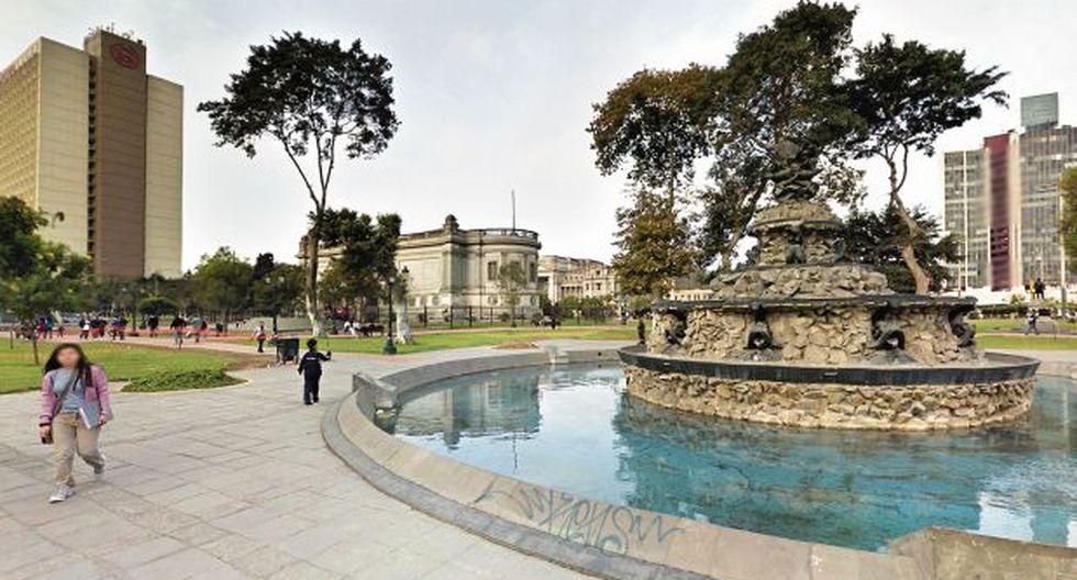 El parque Neptuno, donde se hará la remodelación, se encuentra al frente del Parque de la Exposición. (Foto: Google Maps)