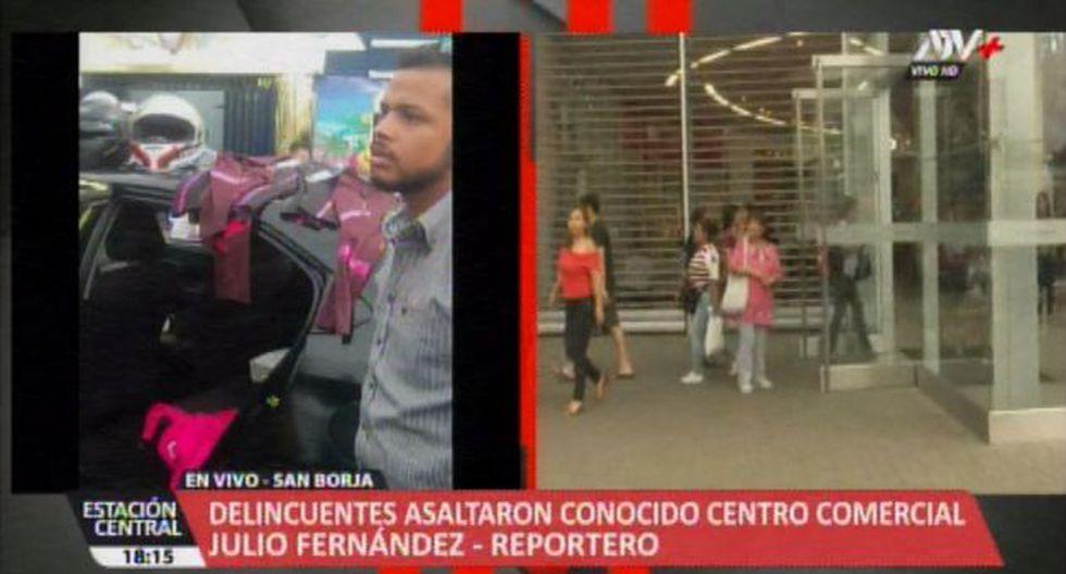 Esta tarde, tres presuntos tenderos, nacionalidad extranjera, hurtaron en una tienda de un conocido centro comercial, ubicado en el distrito de San Borja. (Video: ATV+)