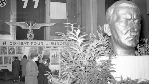 Los bustos de Hitler abundaban en París durante los años de la ocupación. (Getty Images).