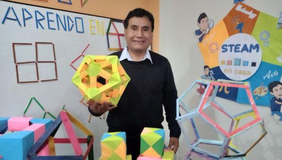 Gerson Ames, el profesor de matemáticas que destaca por su método de enseñanza. (Foto: Difusión)