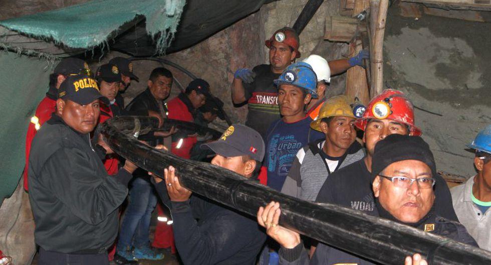 Solicitan más equipos para poder rescatar a mineros en Acarí