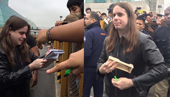 Dross, estrella de YouTube, durante su llegada al aeropuerto Jorge Chávez. (Foto: Planeta de Libros)