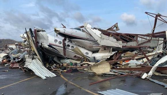 Así ha quedado un aeropuerto de Nashville tras el paso del devastador tornado. (Facebook | The Airplane Guy)