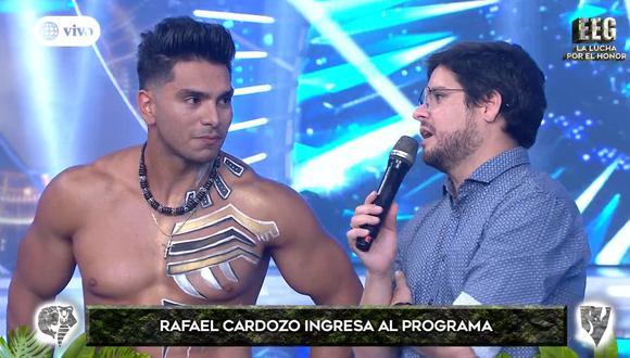 """Rafael Cardozo fue anunciado en la nueva temporada de """"Esto es guerra"""" y le recordó a Gian Piero Díaz su pasado en """"Combate"""". (Foto: Captura de pantalla)"""