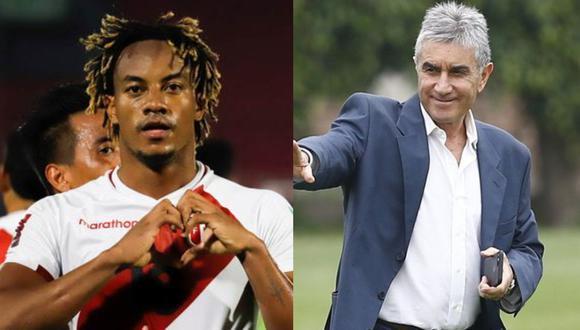 André Carrillo le respondió de singular manera a Juan Carlos Oblitas, quien aseguró que el atacante debería enfocarse en clubes como Real Madrid o Manchester City. (Fotos: AFP/GEC)