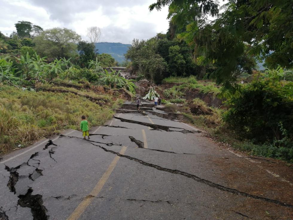 Deslizamiento de masa en Amazonas. (Foto: Indeci)