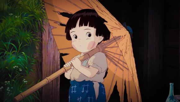 La Tumba de las Luciérnagas, una gran y triste película sobre los horrores de la guerra. (Captura: Ghibli)