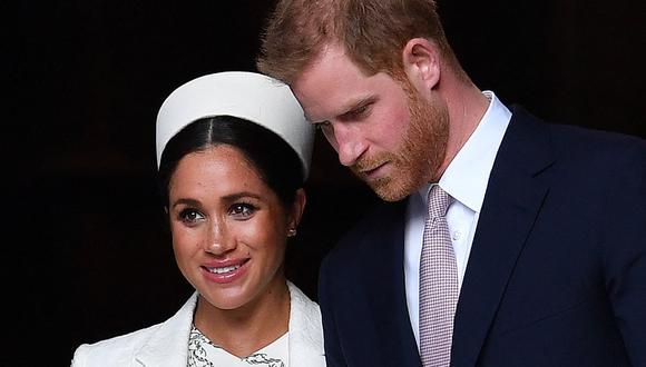 Meghan de Sussex y el príncipe Harry. (Foto: AFP | Ben Stansall)