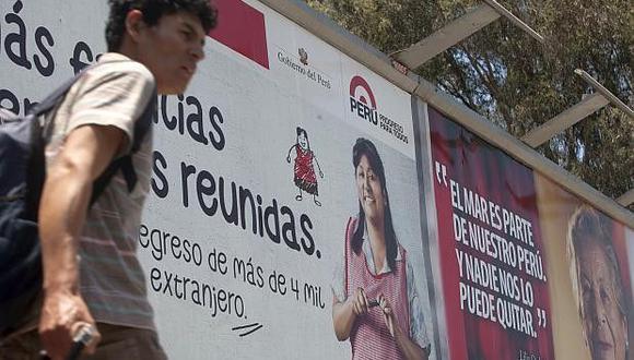 """""""La ley prohibirá al Estado publicitar campañas sobre sus servicios públicos en medios privados"""". (Foto: El Comercio)"""