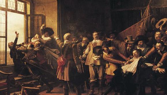 Se le conoce como la Defenestración de Praga, ocurrió hace 400 años y disparó la Guerra de los Treinta Años. (Getty Images).
