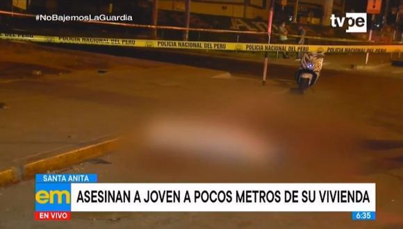 Jorge Reyna Rico (24) fue interceptado por un hombre y una mujer, quienes le hicieron un corte en el cuello y huyeron sin robarle sus pertenencias. (Foto: captura de video)