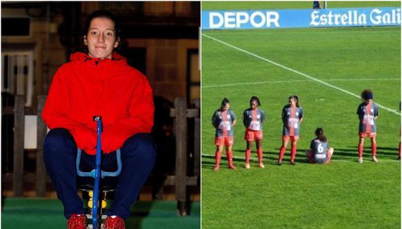 """""""Me niego a hacerlo por un violador y maltratador"""", dijo la futbolista cuando le pidieron explicaciones por su acto. (Foto: EFE)"""