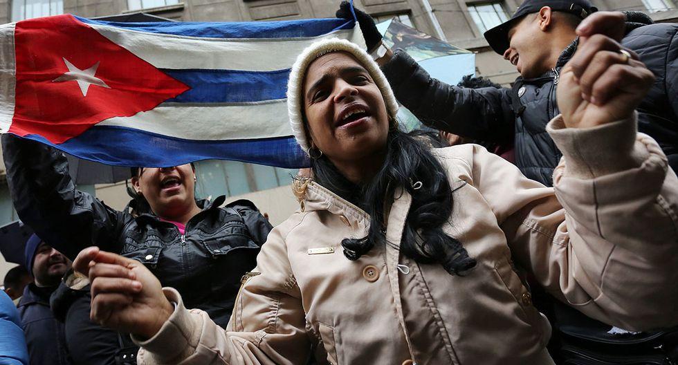 En la protestas participaron ciudadanos de Venezuela, Cuba, República Dominicana, entre otros países. (Foto: EFE)