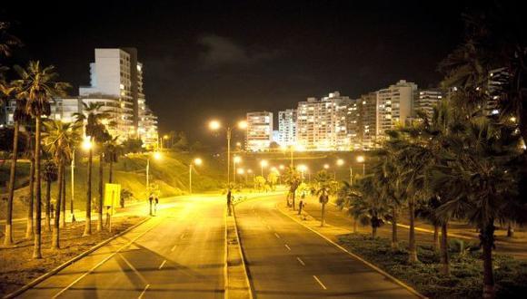 Las calles de Lima lucen vacías por la inmovilización social obligatoria | Foto: El Comercio