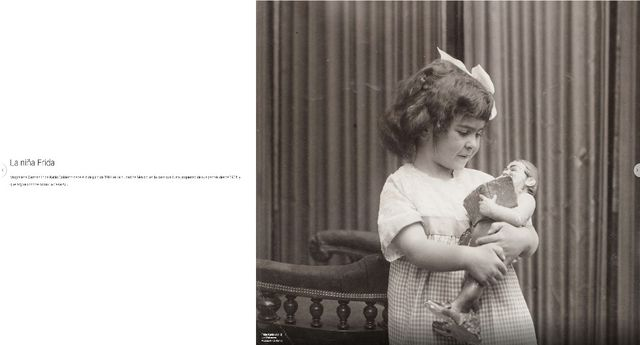 Hay algunas fotografías de su niñez y de sus padres Guillermo Kahlo y Matilde Calderón y González. (Foto: Google Arts & Culture)