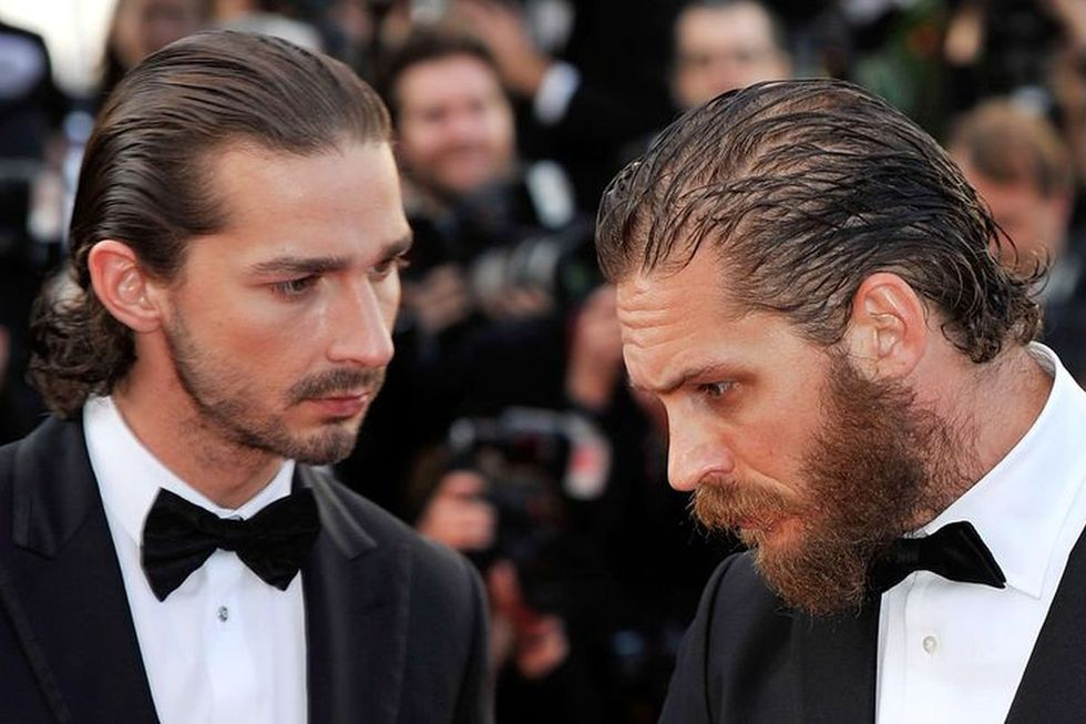 Tom Hardy and Shia Labeouf came to blows (Picture: Getty images)