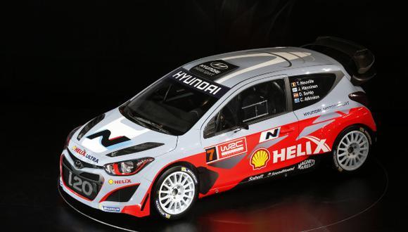 AUTO - HYUNDAI  I20 WRC LAUNCH - FRANKFURT (DEU) - 10/12/2013 - PHOTO : FRANCOIS BAUDIN / DPPI -  AMBIANCE