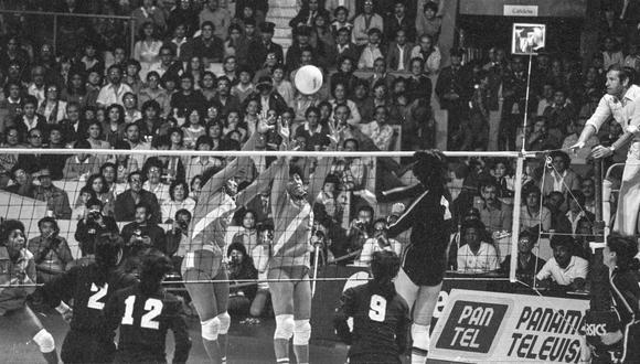 LIMA, 25 DE SETIEMBRE DE 1982PARTIDO FINAL DEL MUNDIAL DE VOLEY ENTRE LAS SELECCIONES DE PERU Y CHINA. FOTO: EL COMERCIO