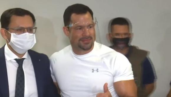 El legislador paraguayo Ulises Quintana, del gobernante Partido Colorado. (Foto: captura de pantalla)