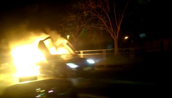 Vendedor incendia un Lamborghini Murciélago [VIDEO]