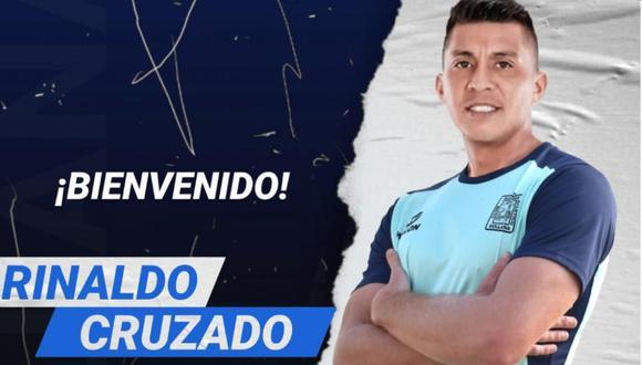 Rinaldo Cruzado fue oficializado como nuevo refuerzo de Alianza Atlético de Sullana. (Foto: Alianza Atlético)