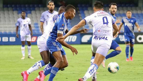 'Azules' se impusieron con gol de Facundo Barceló (Foto: Twitter del Club Sport Emelec)