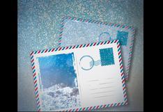 Cuatro postales con nieve