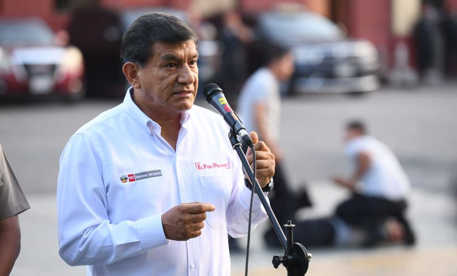 El ministro del Interior, Carlos Morán, destacó la importancia de que se respeten a autoridades como el fiscal José Domingo Pérez. (Foto: Difusión)