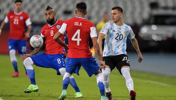 Argentina igualó 1-1 con Chile en su debut por la Copa América 2021. (Foto: AFP)