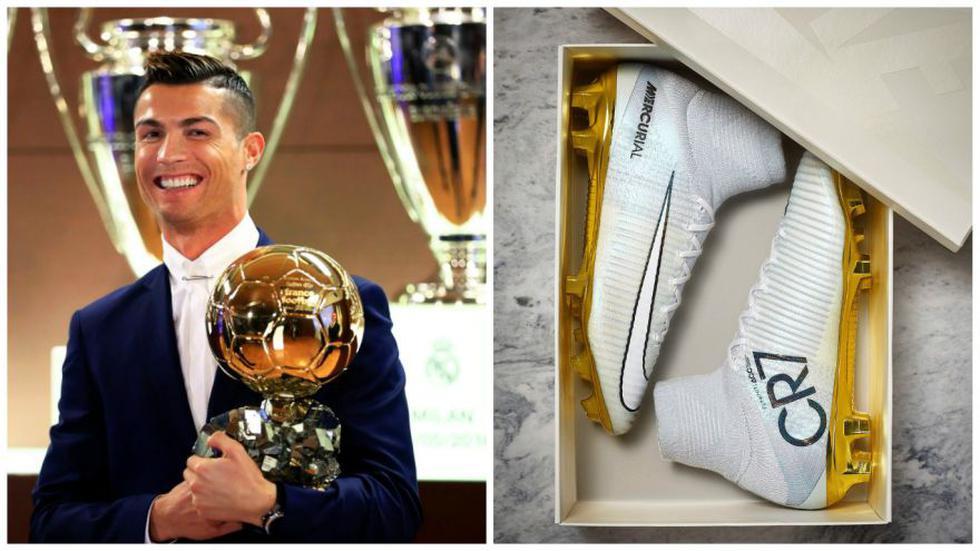Cristiano: Nike celebró Balón de Oro con novedosas zapatillas  - 1