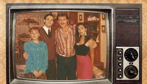 """El elenco de """"Casado con mi hermano"""" en la primera temporada. De izquierda a derecha: Gloria Klein, Leonardo Torres Vilar, Paul Martin y Maritza Picasso. (Foto: Panamericana)"""