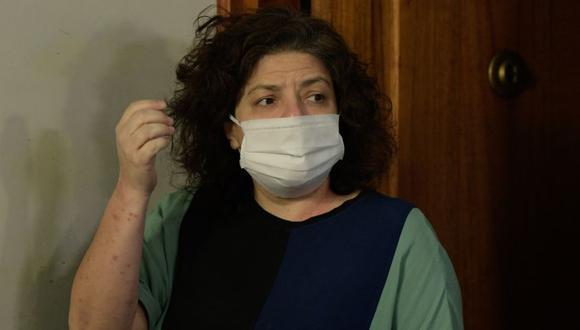 Carla Bizzotti, nueva ministra de Salud de la Argentina durante una rueda de prensa en Buenos Aires (Argentina). (Foto: EFE/POOL/Juan Mabromata).