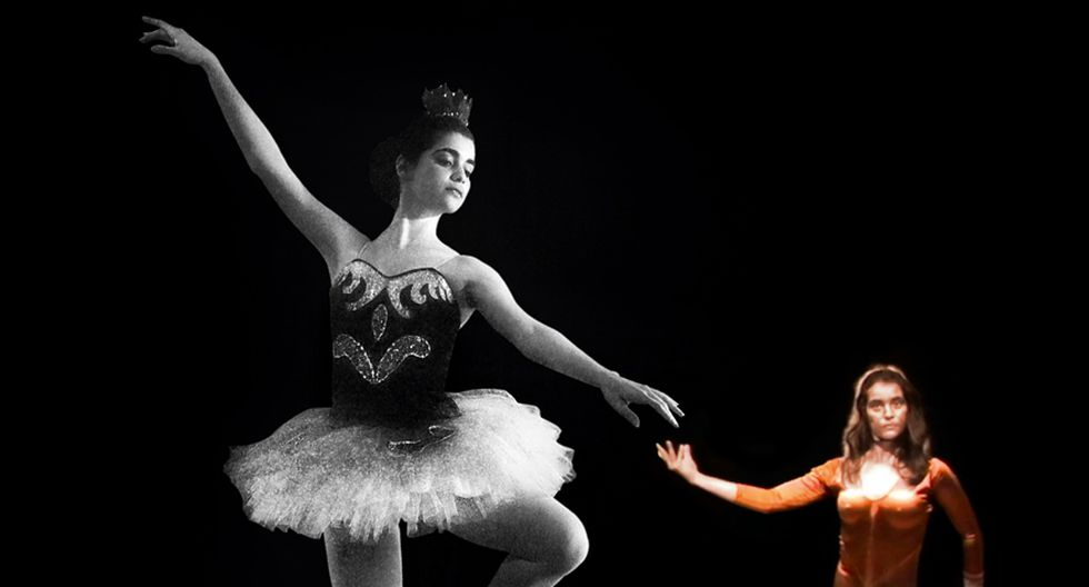 1982. Maritza a los 17 años, cuando era alumna del Ballet Miraflores. Una década después, a los 27, fue capturada junto a Abimael Guzmán, a quien escondía en su casa. Abajo, en un ensayo de la obra Arcana, dirigida por Patricia Awapara. Era 1991, cuando ya fungía de 'ama de llaves' del sanguinario senderista. En su rostro ya se nota una transformación. (Foto: FotoArt)
