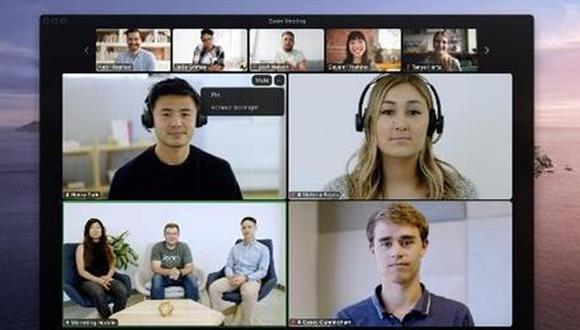 Zoom permite destacar o fijar múltiples videos en las reuniones. (Foto: cortesía Zoom)
