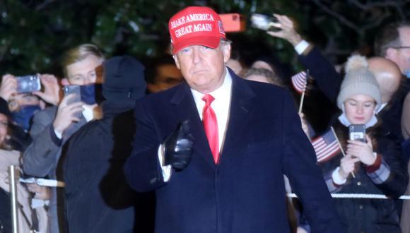 El presidente Donald Trump en su último día de campaña. (Foto: Reuters)
