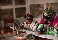 Primitivo Evanán deja testimonio de la pandemia del Coronavirus en sus tradicionales tablas de Sarhua